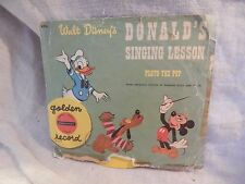 Vintage Donald's Singing Lesson Record Donald Duck Pluto the Pup Disney