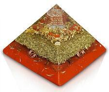 """Orgonit Orgon Gizeh Pyramide """"Mutter der Erdung"""" Jaspis rot 13x13cm"""