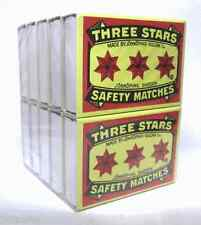 THREE STARS SAFETY MATCHES 10 BOXES 40 Matches Each BOX TOTAL 400 WOODEN