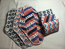 Set/6 Reusable Menstrual Pads (Cotton, Pul interior, Flannel) NWOT Momma Cloth