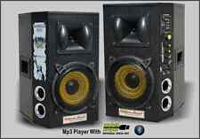 COPPIA CASSE AMPLIFICATE 1200 WATT CON BLUETOOTH, USB, SD, MICROFONI E CHITARRA