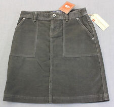 NORTH FACE Womens GRAPHITE GRAY SOFT HERITAGE WASH NENANA CORD SKIRT NWT XS $65