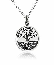 Tree of Life Pendant Necklace - 925 Sterling Silver - Grounded Roots Family NEW