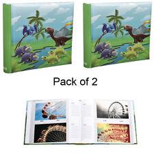 2XCute Dinosaurs Scene Slip In Memo  Photo Album' 6x4' For 200 PhotosAL-9155-2PK