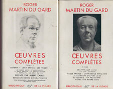 Roger Martin du Gard, Oeuvres completes, Tome I + II, Bibliotheque de la Pleiade