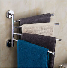 Wall Mount Active Bathroom Towel Rack Chrome Brass Towel Bar
