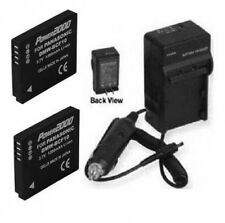 2 Batteries + Charger for Panasonic DMW-BCF10PP DMWBCF10PP CGA-S/106B CGA-S/106C