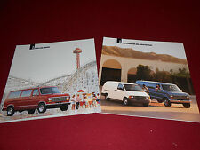 1991 FORD ECONOLINE & AEROSTAR VAN BROCHURE + CLUB WAGON SALES CATALOG, 2 for 1