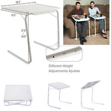 Smart Table Mate l (1) Folding Tablemate Adjustable Tray Foldable Desk   White