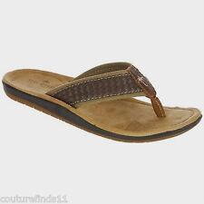 New MARGARITAVILLE Mirage Dark Brown Men's Flip-flop Sandals Size 8 (M)