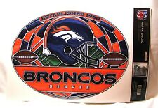 """Denver Broncos 11""""x17"""" Stained Glass Style Ultra Decal Sheet IN STOCK!"""