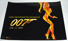 JAMES BOND POSTER WORLD IS NOT ENOUGH 1999 STUDIO ISSUED  MINI QUAD 16x12 ins