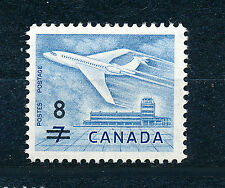 CANADA 1964 DOUGLAS DC-9 AIRLINER SG540 SURCHARGED SG556 BLOCK OF 4 MNH
