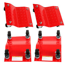 "(4) 16""x 12""x 4.5"" HD Set Dolly Tire Wheel Dollies Dolly Vehicle Car Auto Red"
