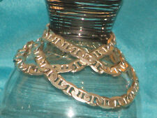 """925 Sterling Silver  6mm Mariner  Necklace Chain 35.8g 20"""" Italy"""