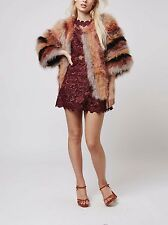 Topshop Marabou Feather Fur Coat Jacket EU 38 $305