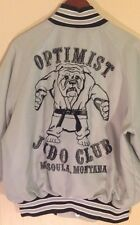 Eagle Athletic OPTIMIST Bulldog Judo Club Missoula Montana Baseball Jacket Large