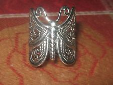 BEAUTIFUL LARGE 925 STERLING SILVER FILIGREE BUTTERFLY RING SIZES 7-10