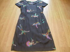 BODEN BIRD  ROLL COLLAR DRESS SIZE 8 LONG BNWOT