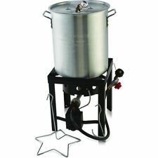 Deep Fryer 30 QT Turkey Fryer Pot & Gas Stove Propane Burner Stand Stockpot NEW