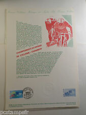 FRANCE 1989, DOCUMENT FDC 1° JOUR, SPORT CYCLISME, timbre 2590, VF CYCLING