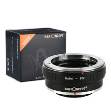Rollei QBM Lens to Fujifilm Camera Adapter FX X-T1 X-E1 X-Pro1 X-M1 X-E2 X-A2