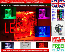Bright LED Light Strip Colour Changing PC Case Modding LED Lights With Molex