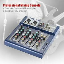 Professional 4 Channel 3-Bands Equalizer Mic Line Audio Mixer Console C1S9