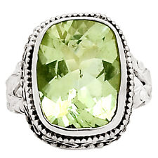 Green Amethyst 925 Sterling Silver Ring Jewelry s.6 9674R