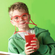 Creative Children Drinking Soft Flexible Glasses Straw Party Kid Fun Toy Gift