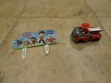 PAW PATROL CAKE DECORATIONS **MARSHALL IN FIRE TRUCK**