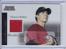 2004 Bowman Sterling Autograph & Jersey Rookie Homer Bailey