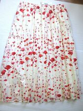 J Crew Pleated Midi Skirt in Flamingo Print Style F2068 Size 8 NWT