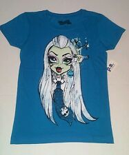 Monster High Girls' NWT Frankie Stein size 8(S) teal tee. It's FANGTASTIC