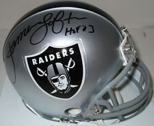 Raiders JAMES LOFTON Signed Riddell Mini Helmet AUTO w/ HOF '03