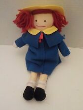"Madeline Rag Plush Doll 15"" Tall Eden 1990"