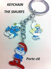 SMURFS SMURFETTE PAPA SMURF KEYCHAIN KEYRING CHARM DANGLE NEW