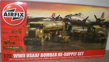 USAAF WW2 BOMBER RE-SUPPLY Set WEAPONS,VEHICLES,BOWSER, GROUND EQUIPMENT 1/72