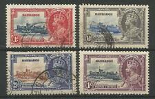 BARBADOS THE 1935 GV SILVER JUBILEE SET FINE USED,THE 1/- IS MINT  C.£45