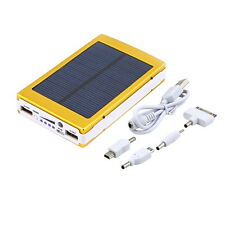 Gold 500000mAh Dual USB Portable Solar Battery Charger Power Bank For Cell Phone