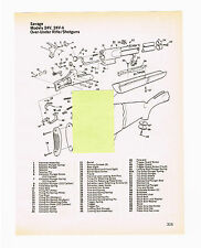 SAVAGE MODELS 24V, 24V-A OVER-UNDER RIFLE/SHOTGUNS EXPLODED VIEW/PARTS 1982 AD