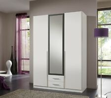 Qmax 'Skate' 3-Door Wardrobe. German Made Bedroom Furniture. White & Anthracite.