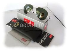 New Mens Sunglasses Ray-Ban RB3025 Aviator Silver/Green 62mm