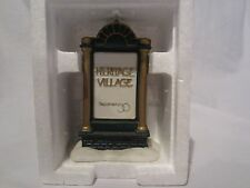 Dept 56 Heritage Village Collection Promotional Sign