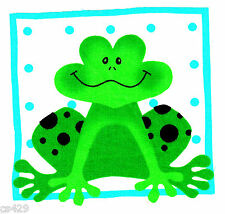 "4.5"" FROG TOAD  INSECT BUG  NURSERY  CHARACTER WALL SAFE FABRIC DECAL  CUT OUT"