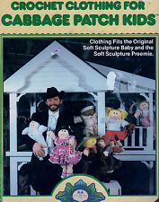 CROCHET PATTERN CABBAGE PATCH DOLL DRESS WESTERN BUNTING BAG HAT BOOTEES