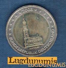 2 euro Commémo - Allemagne 2008 Eglise Saint Michel J Hambourg Germany