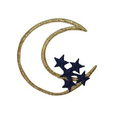 ID 3159 Moon And Stars Embroidered Iron On Badge Applique Patch