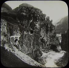 Glass Magic Lantern Slide ST GOTHARD RAILWAY C1900 SWITZERLAND PHOTO