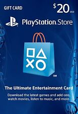 PSN $20 Dollars PlayStation Store Gift Card -PS3/ PS4/ PS Vita